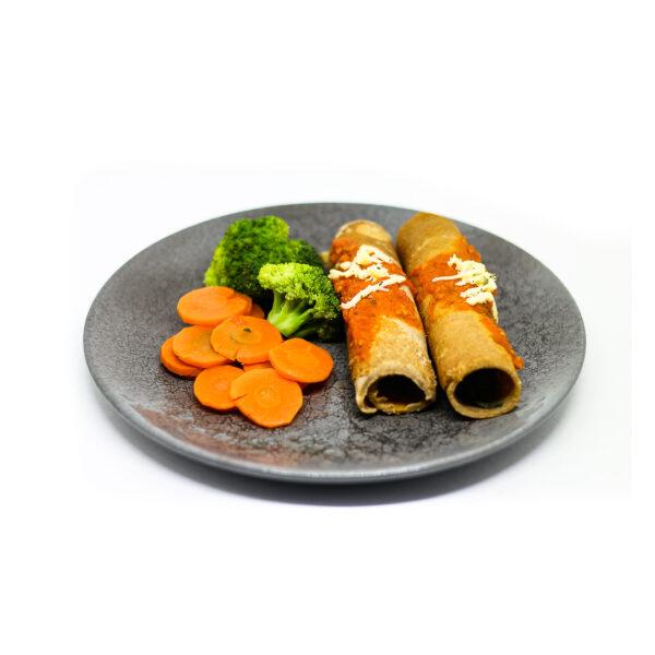 Panqueca com legumes