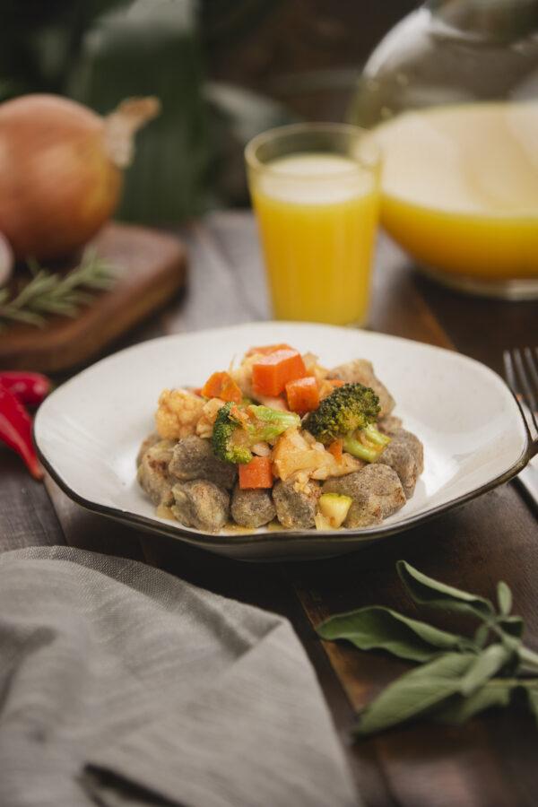 nhoque de batata doce ragu de legumes- novo